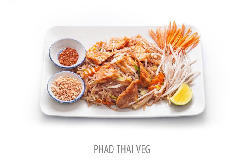 Nr 28-1. Vegetarisk Pad Thai.