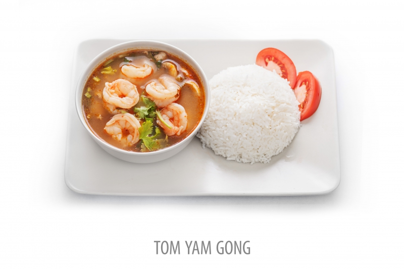 Nr 19, Tom Yam, Stark syrlig soppa.
